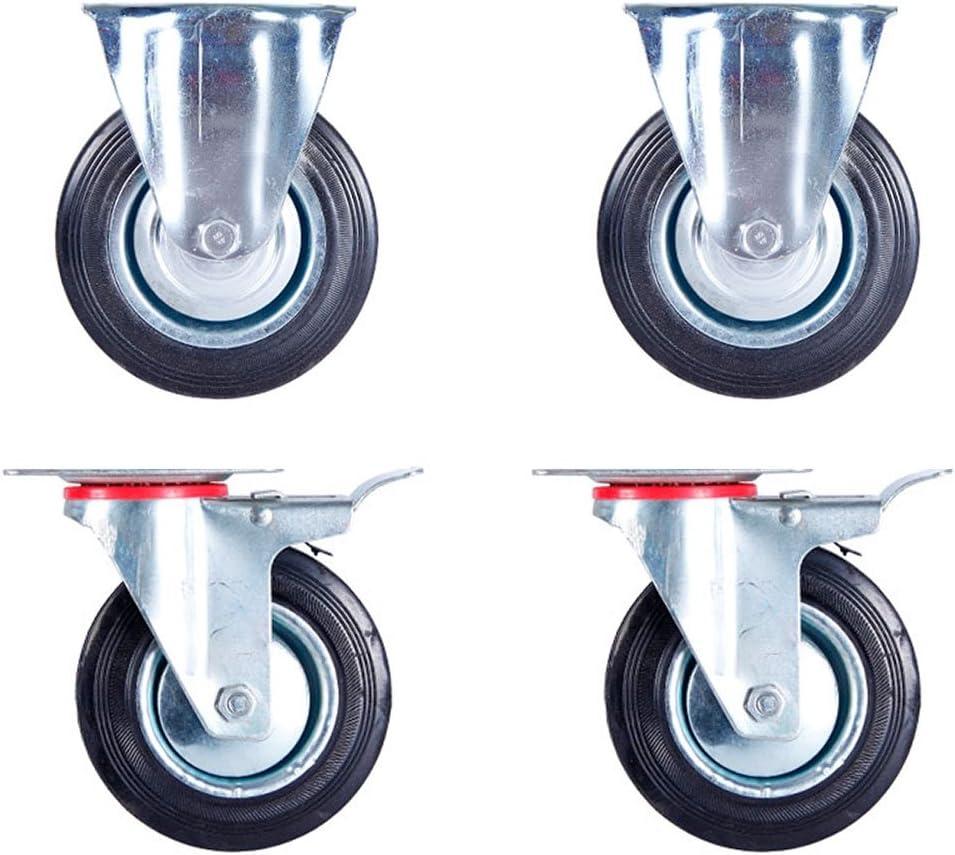 Alsino 4er Set 125 mm lenkbar Transportrollen 2x Lenkrollen 2x Lenkrollen mit Bremse