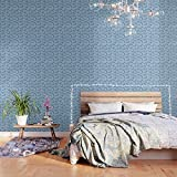 Society6 Wallpaper, 2' X 4', Petal Power - Periwinkle by glamgrampaperco