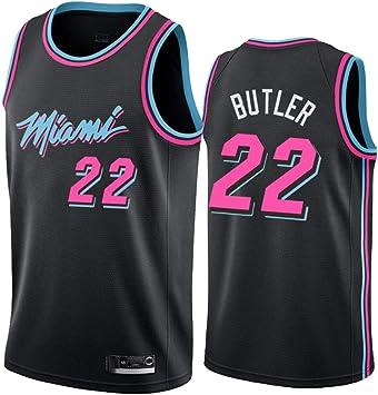 Hombre Mujer Ropa de Baloncesto Miami Heat 22# Butler Jersey ...