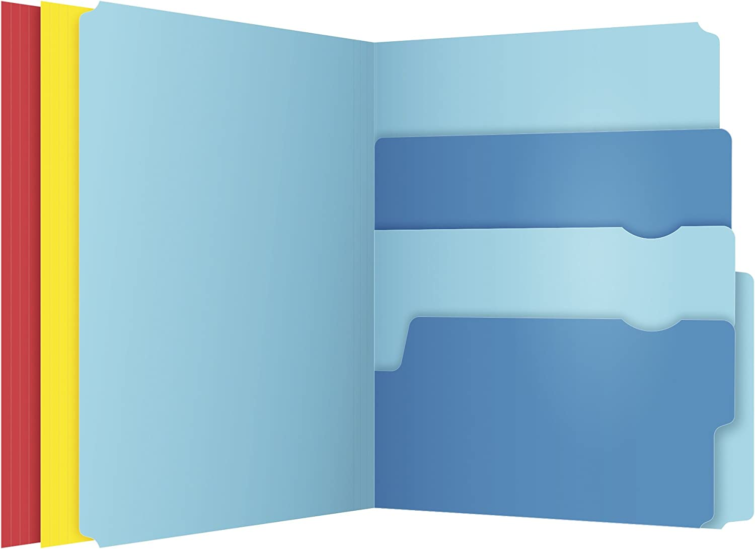 Pendaflex Divide-It-Up File Folder, Letter Size, 24 Count, Assorted Colors (10772) : Office Products