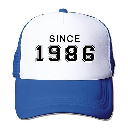 Amazon Men Since 1986 30th Birthday Gift Mesh Back Baseball Hat Trucker Hats RoyalBlue 6700013069301 Books