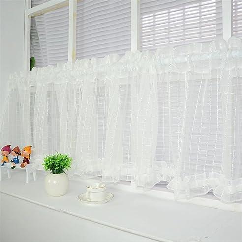 Cf® Cafe Vorhang Küche Vorhang Fertig Made Valance Kurz Semi Sheer