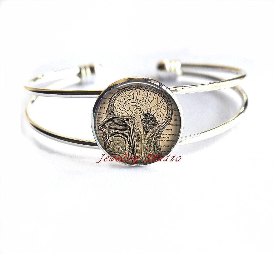 medical Braceletsent gift,neurology Bracelets-HZ0068 biology neurologist gift Bracelet Charming fashion Bracelet,Anatomical brain Bracelet,human brain anatomy Bracelets