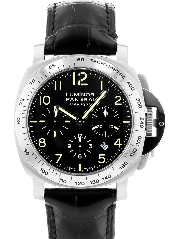 [パネライ] PANERAI 腕時計 PAM00196 H番 ルミノールクロノグラフ 44mmDAYLIGHT(デイライト)SS/レザー [中古品] [並行輸入品] B076RBP83V