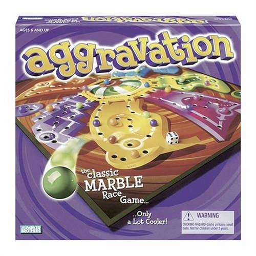Milton Bradley Aggravation, the Classic Marble Race Game ...