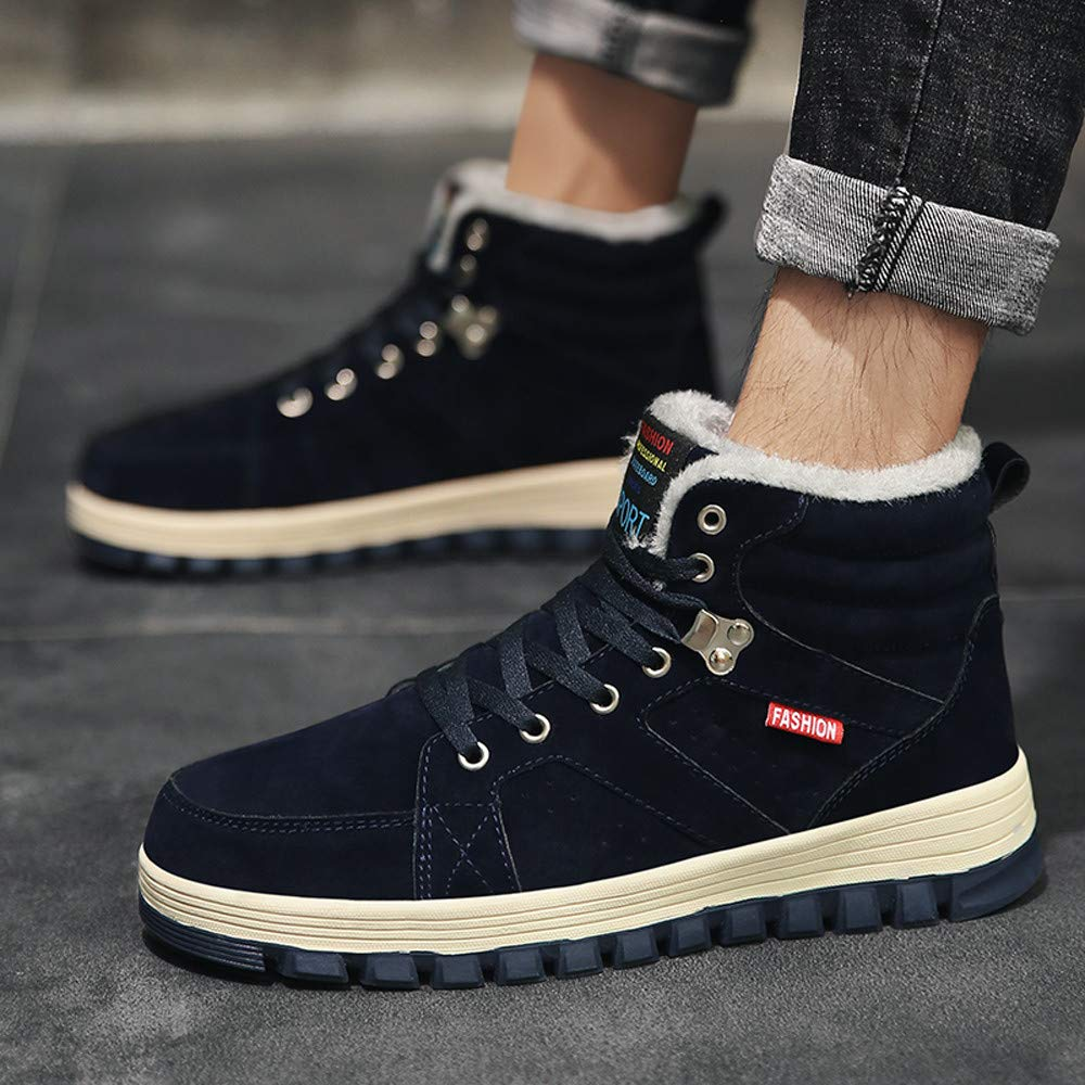 Pandaie-Mens Shoes Leisure Outdoor Men/'s Short Shoe Round Head Keep Warm Non-Slip Lace-Up Sneakers