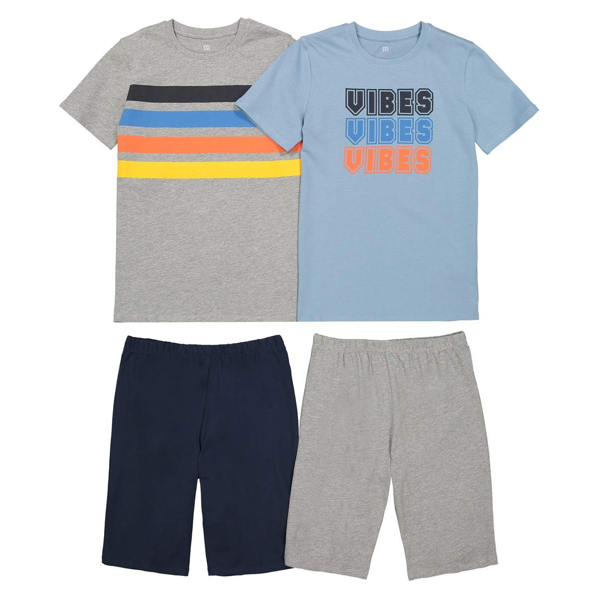 La Redoute Collections Big Boys Pack of 2 Short Pyjamas,10-16 Years