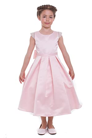 Amazon mgd girls usa made wedding flower girl dress with pearls mgd girls usa made wedding flower girl dress with pearls 201 blush 2 mightylinksfo