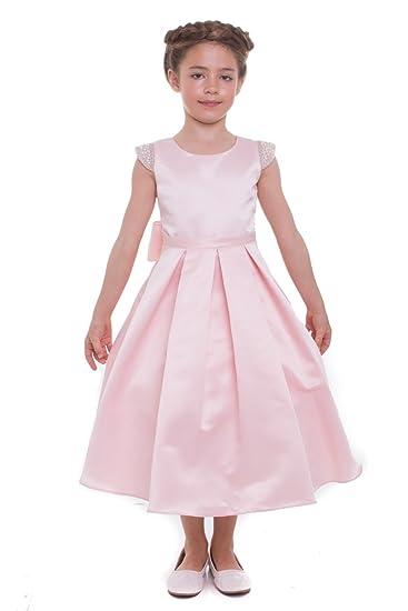 Amazon Mgd Girls Usa Made Wedding Flower Girl Dress With Pearls