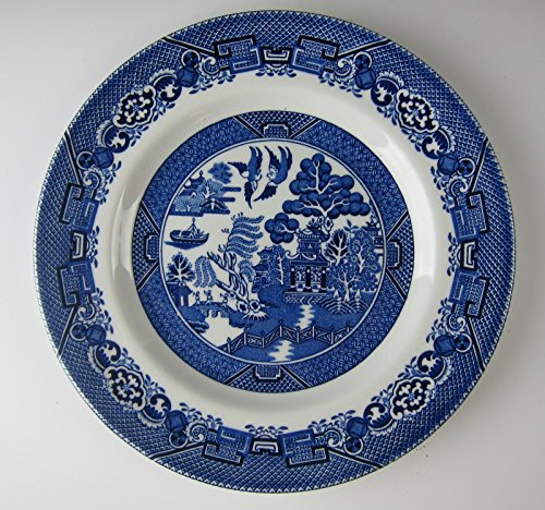 Wood and Sons China BLUE WILLOW Salad Plate(s) EXCELLENT