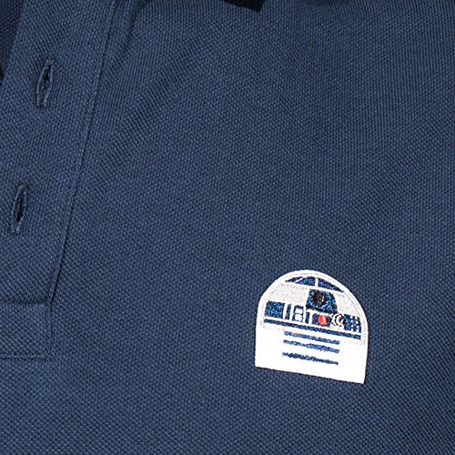 GOZOO Star Wars Polo Shirt Pique Herren R2-d2 Droid - Don't Get Technical With Me Blau