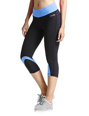 Amazon.com: Baleaf Women's Yoga Running Workout Capri Legging ...