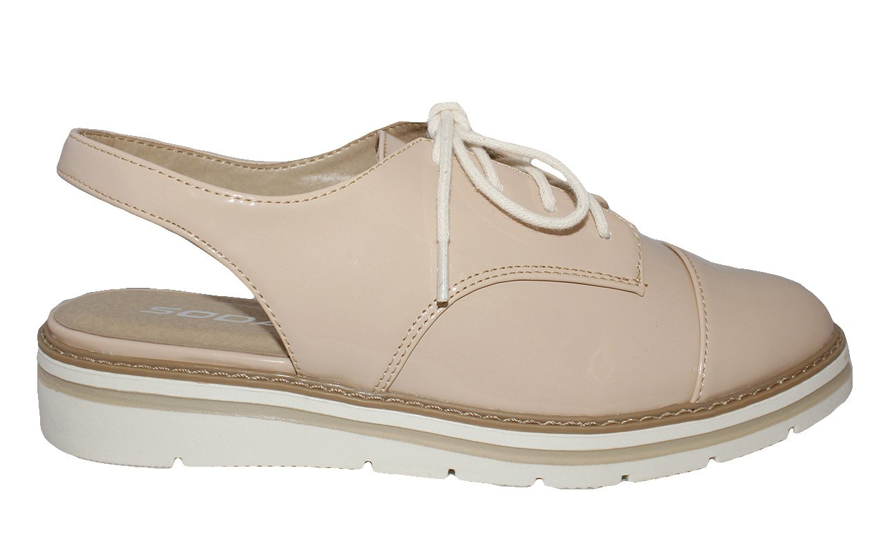 MVE Shoes White Bottom Womens Oxford Shoes Natural 10