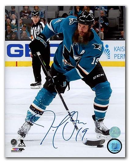 1106e07a2 Joe Thornton San Jose Sharks Autographed Autograph NHL Hockey 8x10 Photo -  Certificate of Authenticity Included