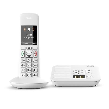 Gigaset E370A Schnurloses Telefon (für Senioren mit Anrufbeantworter, mit großen Tasten und SOS Funktion, einfache Bedienung, extra großes