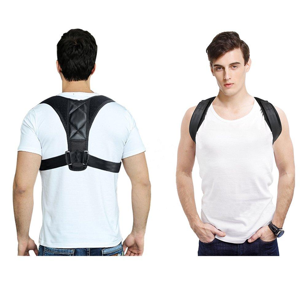 Newdoar Back Posture Corrector with Adjustable Shoulder & Back Brace, Health Care Gift for Back Pain Office Workers, Correct Bad Posture Man & Women & Kids