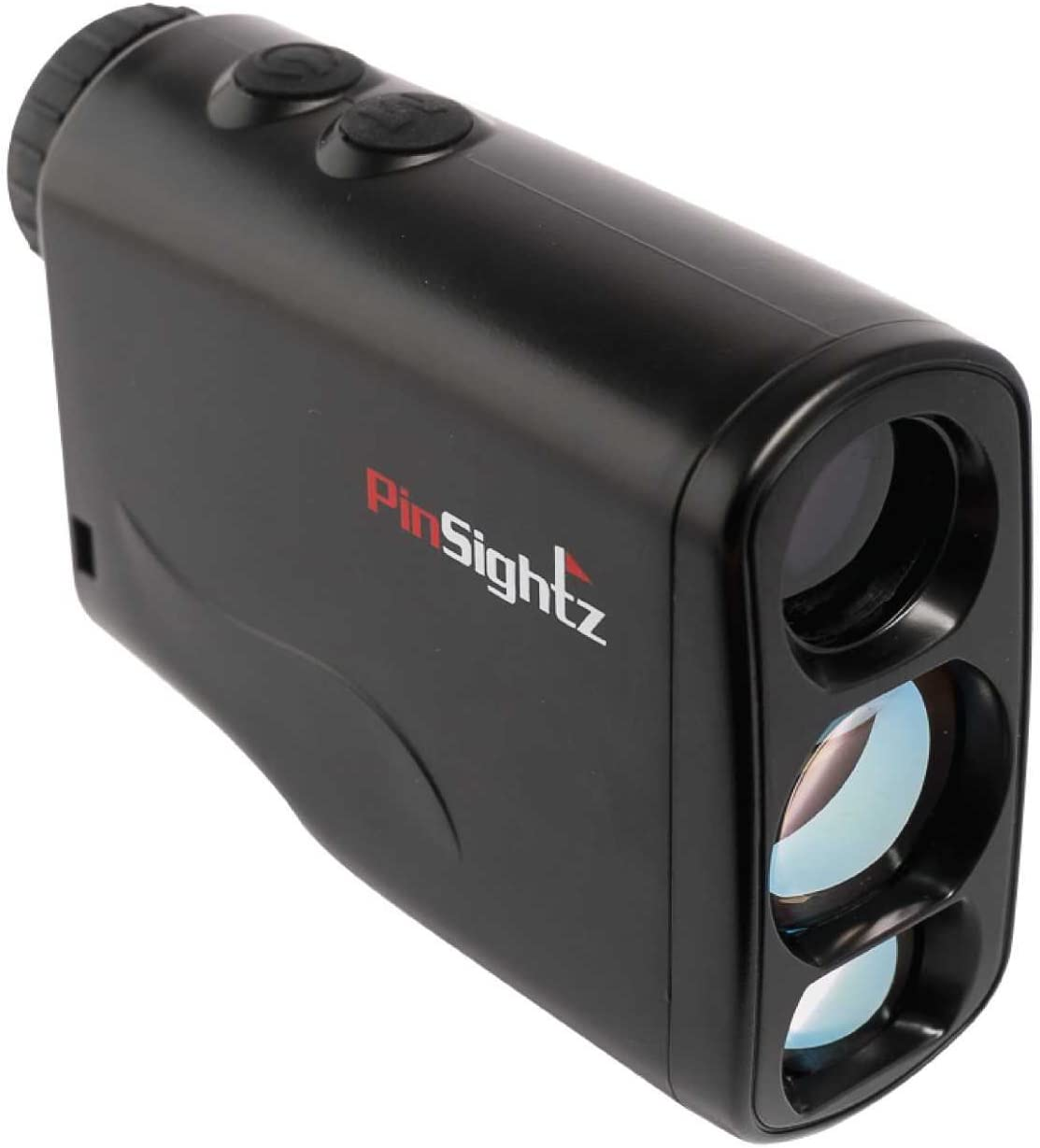 PinSightz Golf Range Finder Laser Accurate Distance, Slope, Speed, Height, and Ranging Vibration Lock with Pin Finder Fog and Interference Protection Incl. Case and Battery