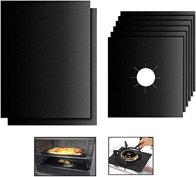 Large Oven Liners for Bottom of Electric Oven BBQ Grill Mats for Outdoor Grill,Heavy Duty Gas Stove Top Covers for Gas Burners,Non-Stick Parchment Paper 16By 24