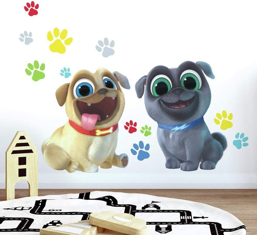 "RoomMates Puppy Dog Pals Peel and Stick Giant Wall Decals , brown, blue, yellow, green, red , 36.5 x 17.25"" - RMK3775GM"