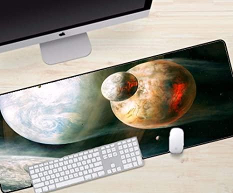czxmp Alfombrilla de ratón de Gran tamaño Hermoso Planeta Luna ...