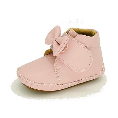 3-18 Months LAFEGEN Baby Boys Girls Walking Shoes Hard Bottom Non Slip PU Leather Outdoor Sneaker Infant Carton Slipper Toddler First Walker Crib Shoes