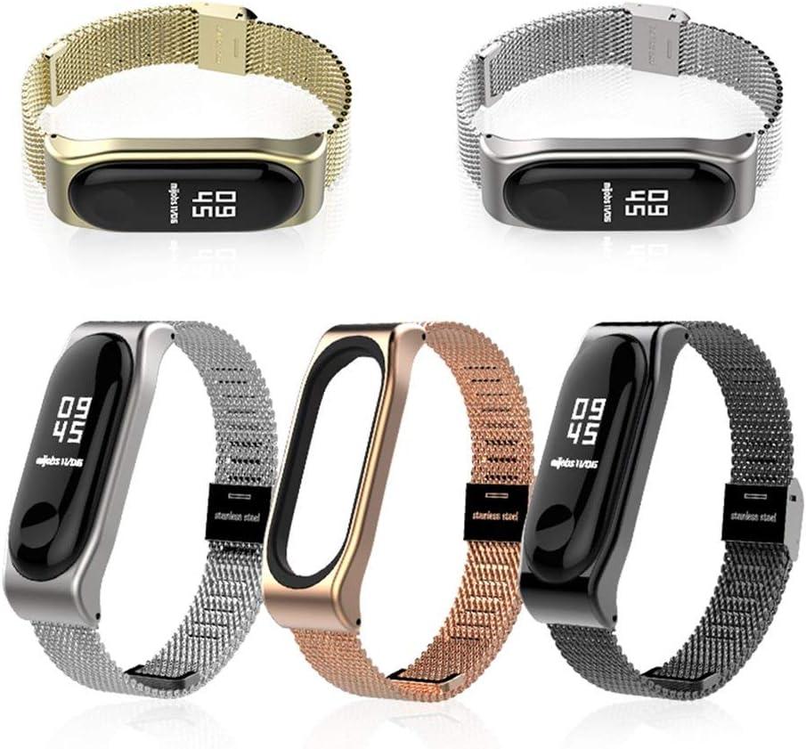 Silber FairytaleMM Mijobs Edelstahlgewebe Armband Uhrenarmband Magnetband Smart Band Ersatz F/ür Xiaomi Mi Band 3 Uhr
