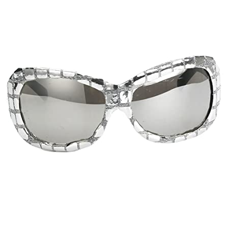 a9262b928d Prettyia Vintage Glitter Silver Sequins Frame Glasses Photo Prop Party  Birthday Event Specs Sunglasses Fancy Dress Costume Eyeglasses Gift   Amazon.co.uk  ...