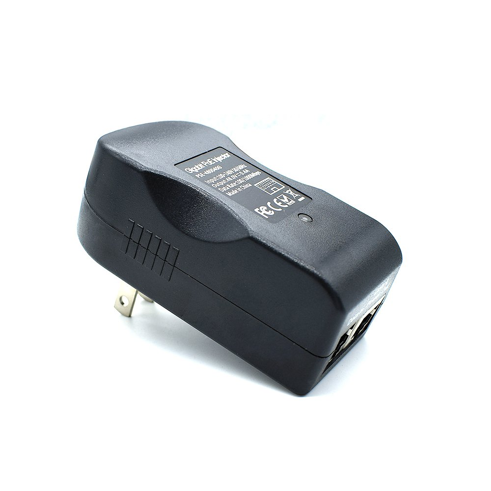 iCreatin 48V19W Wall plug Gigabit Power over Ethernet POE Injector Power supply,1000Mbps IEEE 802.3af Compliant 328 Feet Up to 100 Meters
