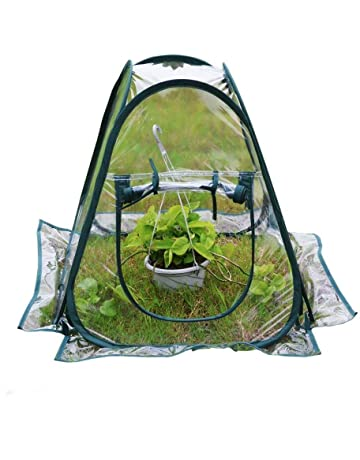 Porayhut Poray Sports Clear Pvc Greenhouse Cover Flower House Mini Gardening Plant Flower Pop Up Tent