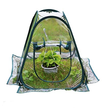 porayhut Clear PVC Greenhouse Cover Flower House Mini Gardening Plant  Flower Pop Up Tent,Backyard Greenhouse Cover for Cold Frost Protector  Gardening