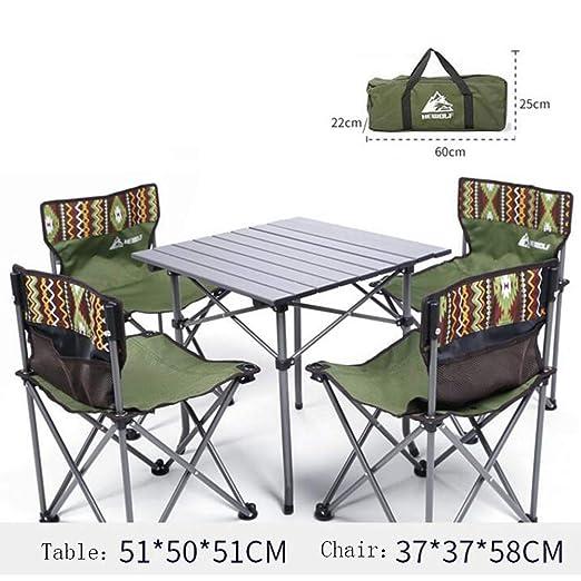 WYX Sillas y mesas Plegables, Juego de Comedor en el Patio de 5 ...