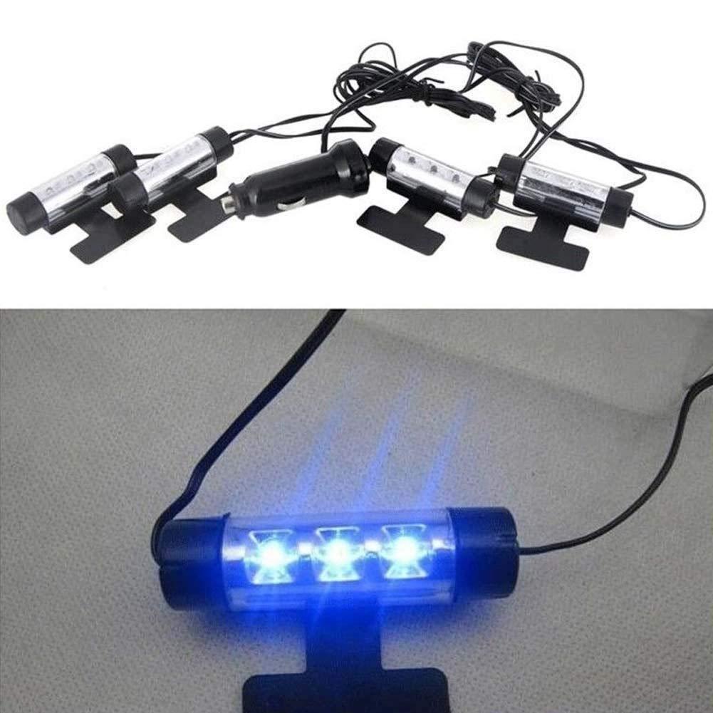 ZHIXX MALL Auto Innenbeleuchtung Atmosph/äre Licht,12V Auto Streifen Licht Leuchten Innenraumbeleuchtung f/ür Auto,KFZ,LKW Auto Innenraum Zubeh/ör//Interior Dcoration-Blaues Licht