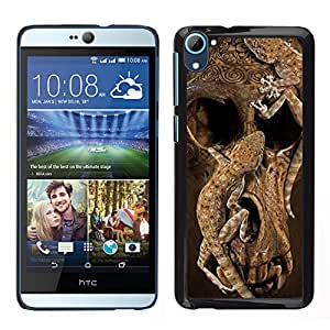 For HTC Desire D826 , S-type® Skull Deep Animal Nature Brown - Arte & diseño plástico duro Fundas Cover Cubre Hard Case Cover