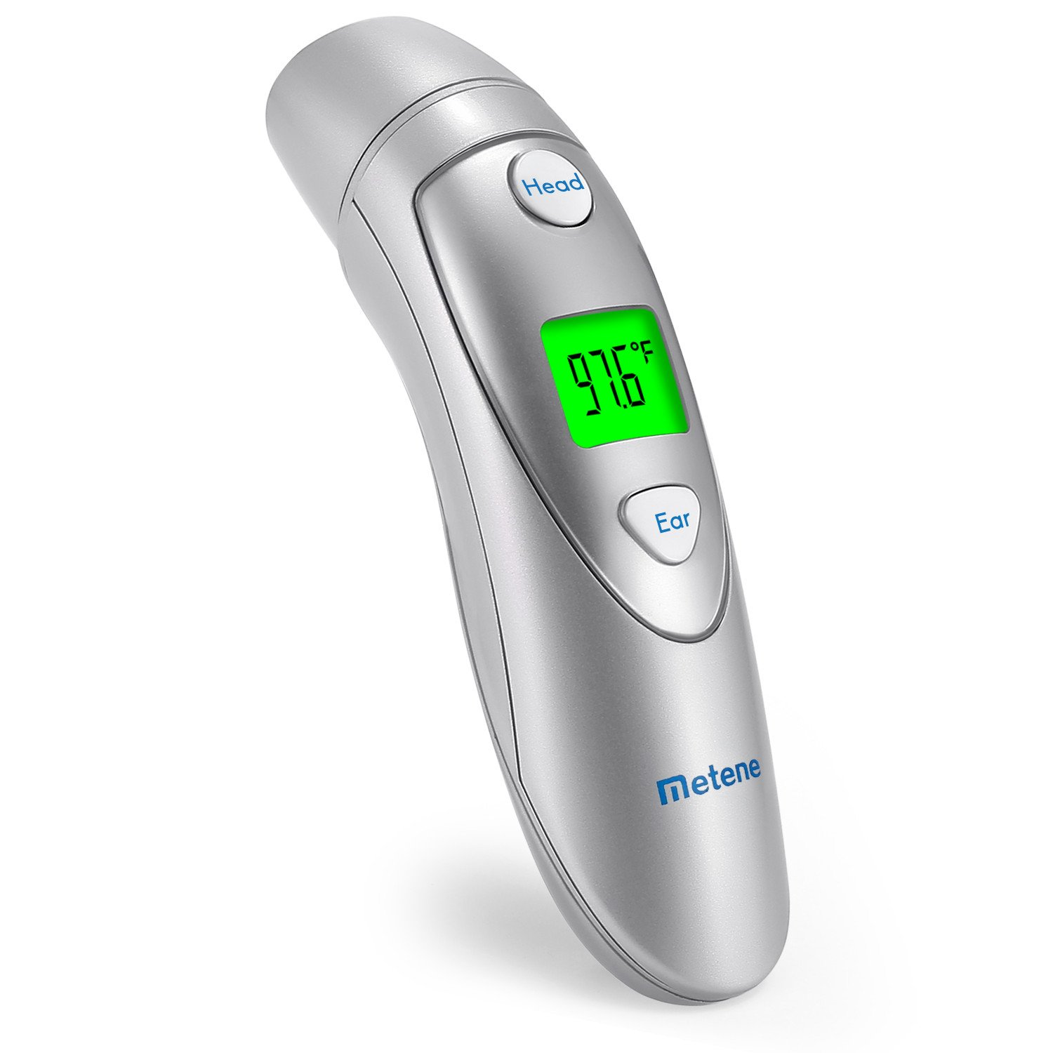 Metene Infrared Forehead and Ear Thermometer, Suitable for Baby, Toddler and Adults with FDA and CE Approved