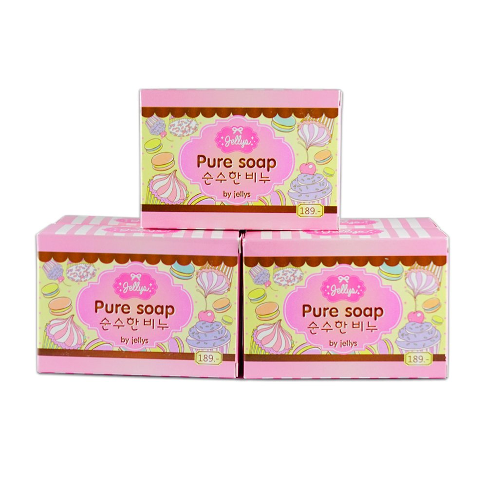 15 Bars Jellys Pure Soap Whitening Soap Vitamin E White Aura Reduce Dark Spot Anti Aging