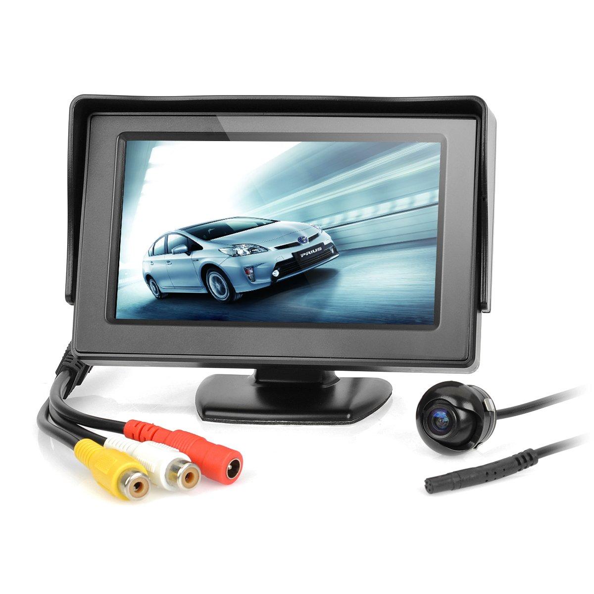 4.3インチTFT LCD車rear-viewスタンドセキュリティモニタとカメラキット – ブラック B0798BCYZQ