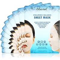 Ebanel 10 Pack Collagen Face Mask, Instant Brightening & Hydrating Face Sheet Mask...