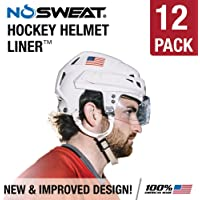 b65bb0a9 No Sweat Hockey Helmet Liner - Moisture Wicking Sweatband Absorbs Dripping  Sweat | Helps Prevent Acne