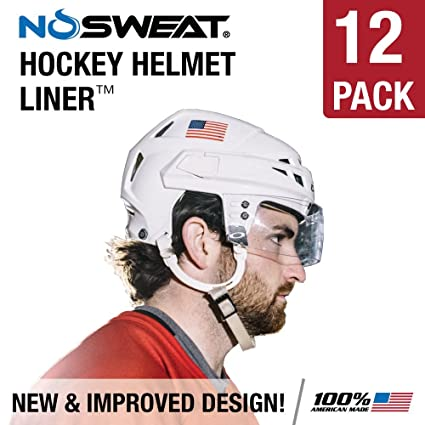 6953a302e4b Amazon.com   NoSweat Helmet Adhesive Sweat Wicking Liners - 12 Pack ...