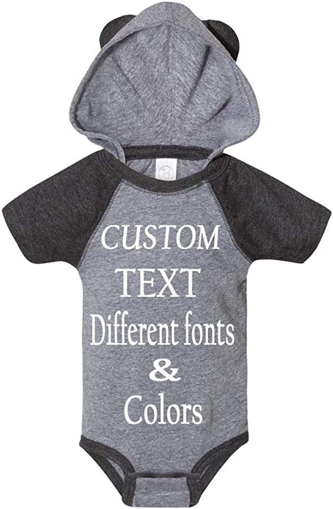 Customized Infant Fine Jersey Body Suit Design Your Own Add Text to Your Infant Jersey