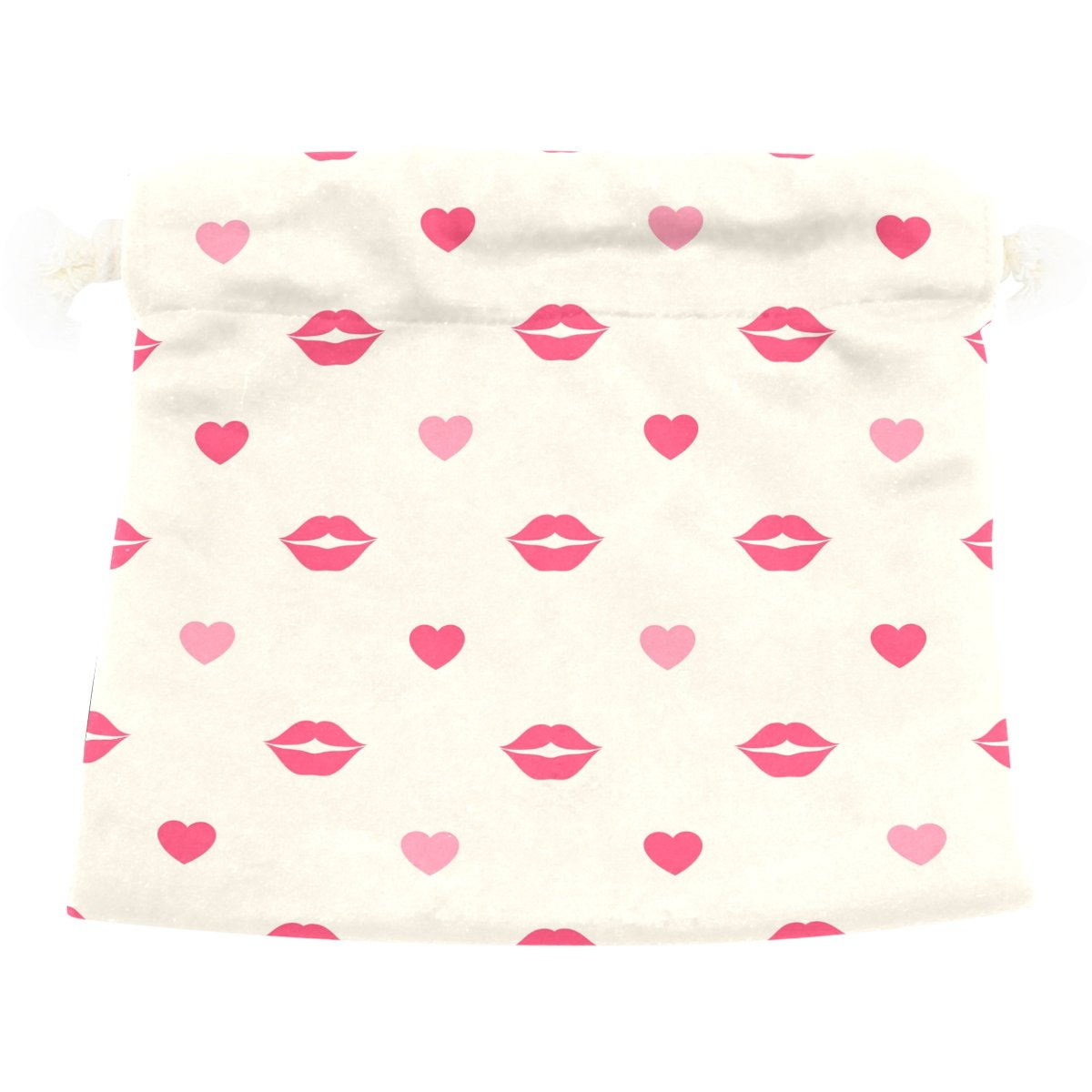 Dragon Sword Red Lips And Hearts Gift Bags Jewelry Drawstring Pouches for Wedding Party, 6x8 Inch