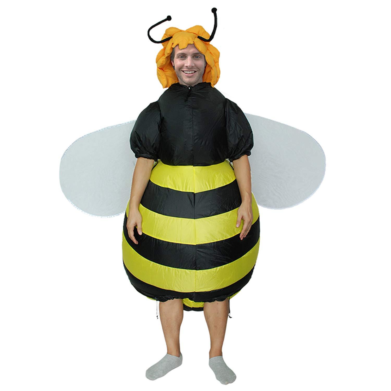 DMMASH Aufblasbare Honigbienen Kostüm Für Frauen Männer Erwachsene Sprengen Halloween Fancy Kleid