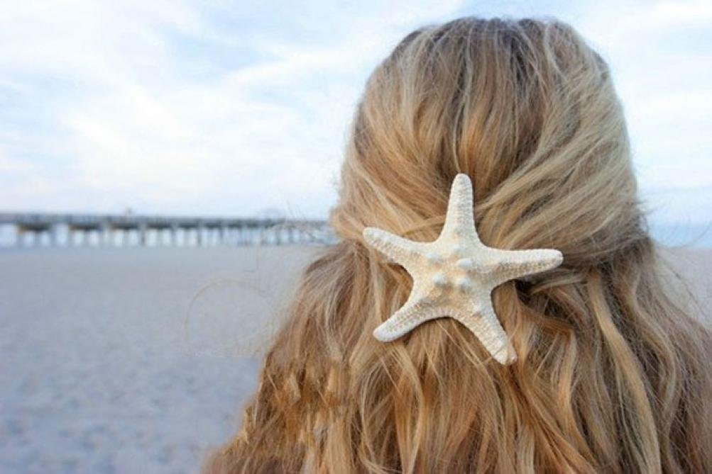 Alonea Hairdressing clips, Women Lady Girls Pretty Natural Starfish Star Beige Hair Clip – DIY Hair Styling (A❤️) by Alonea (Image #3)