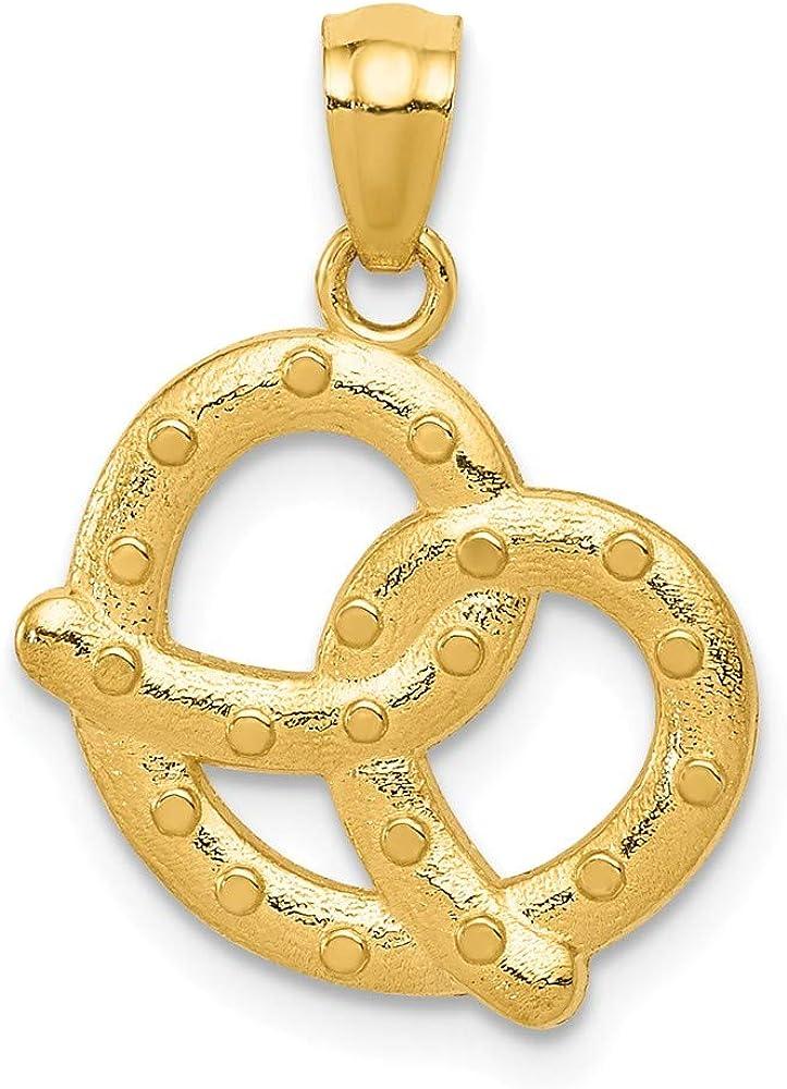 FB Jewels Solid 14K White Gold Seashell Pendant