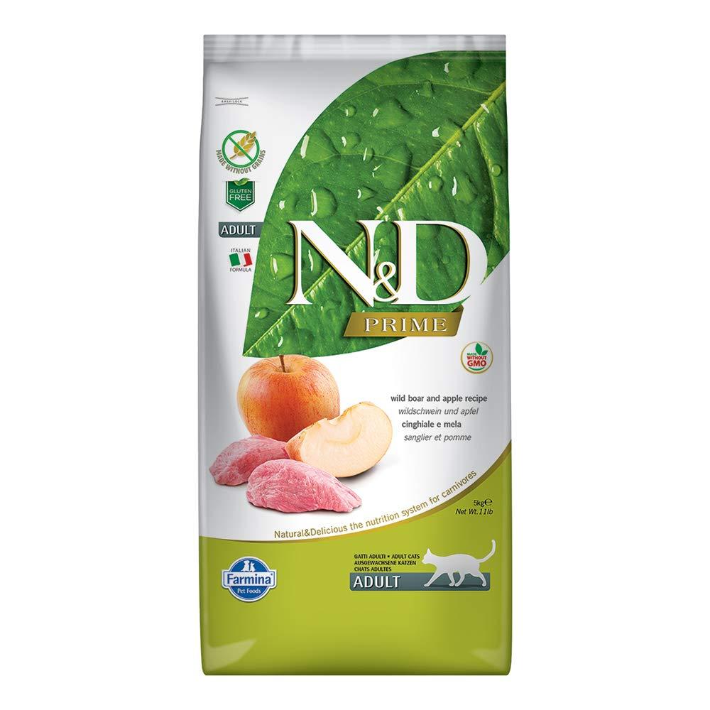 Farmina Natural & Delicious Grain Free Boar and Apple Adult Cat, 11 lb bag by Farmina