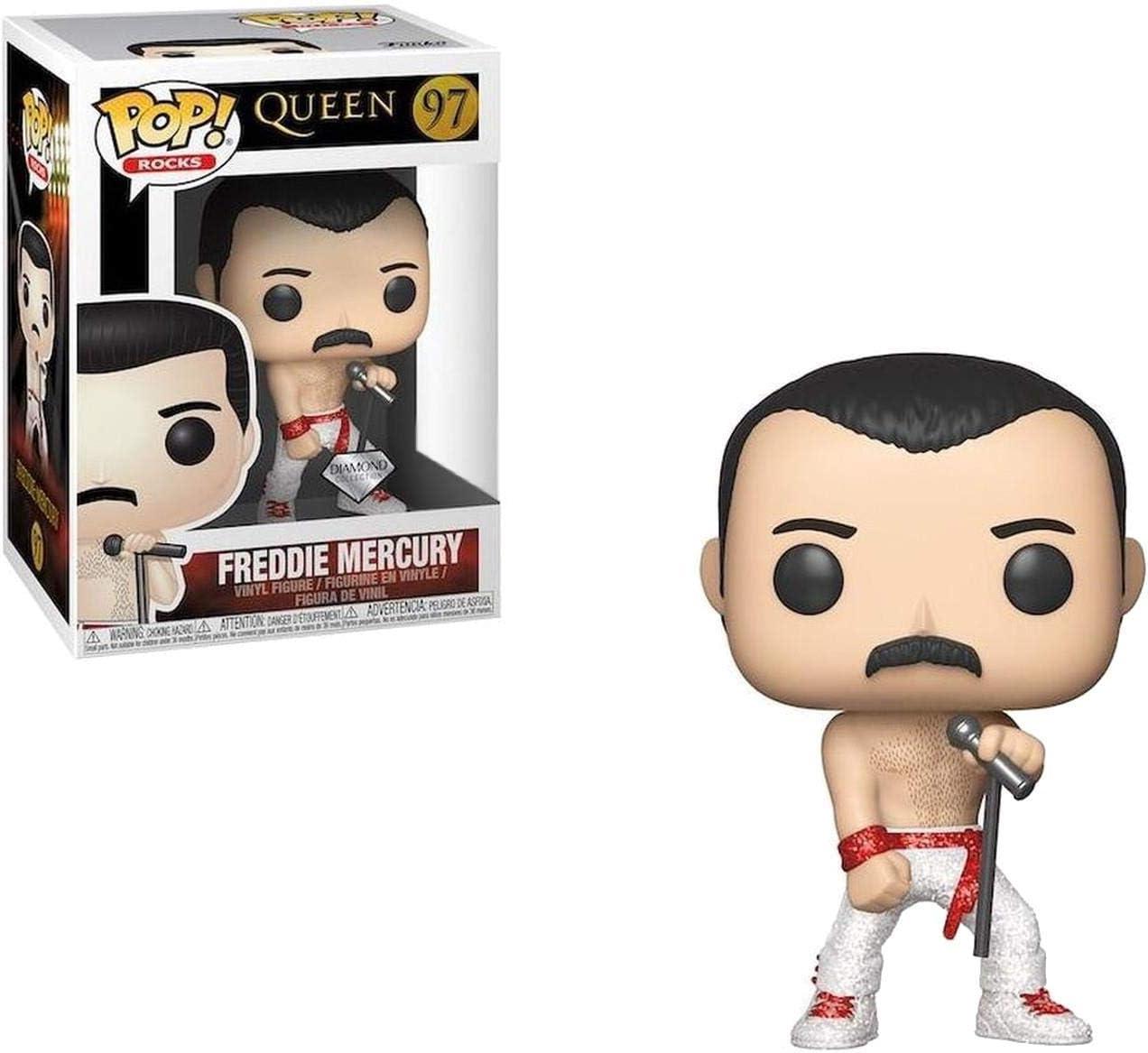 Funko Pop! Rocks: Queen - Freddie Mercury Diamond (edición Limitada)