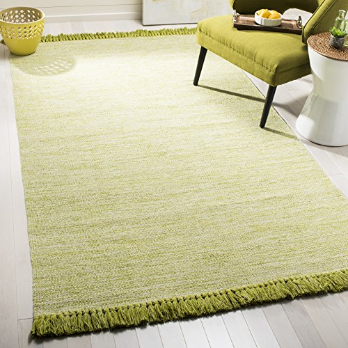 Transitional Olive Green - Safavieh Montauk Collection MTK610G Olive Green Area Rug (5' x 8')