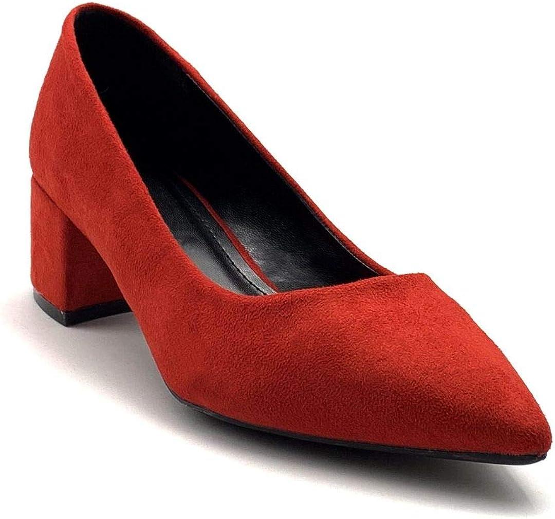 Chaussure Mode Escarpin Petits Talons Glamour soir/ée Femme Simple Basique Classique Talon Bloc 5 CM Angkorly