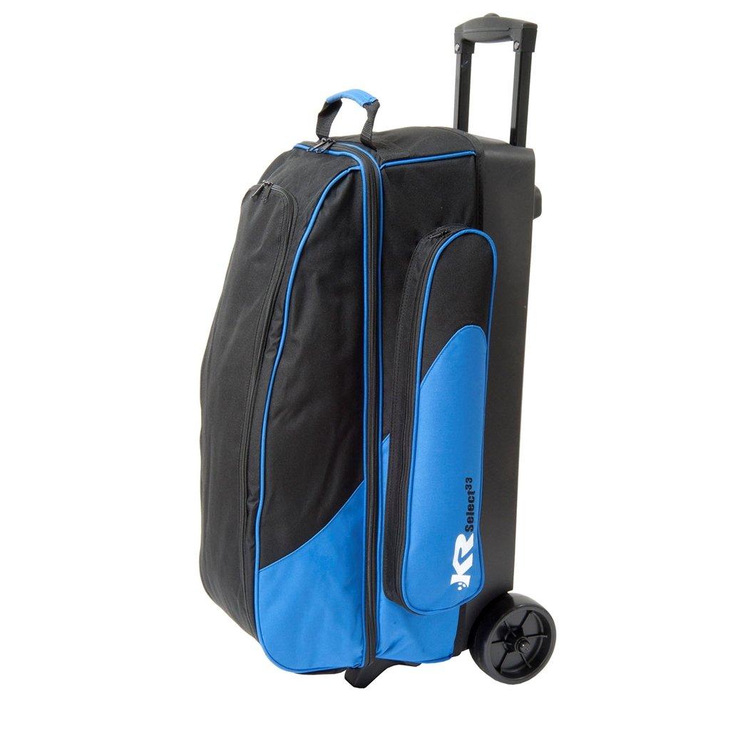 KR Select Triple Roller Bowling Bag- Royal/Black
