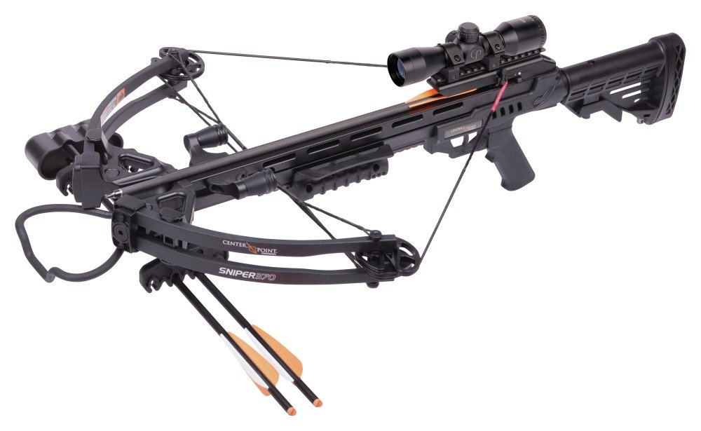CenterPoint AXCS185BK Sniper 370 Crossbow Package, Black by CenterPoint
